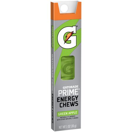 Gatorade Prime Green Apple Energy Chews  1 Oz