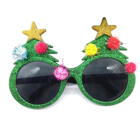Christmas Tree Eye Glasses Innovative Plastic Costume Eyeglasses for Christmas - Christmas Tree Costumes