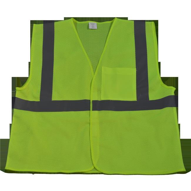 LVM2-EC-2X-3X Safety Vest Economy Line Ansi Class Ii Lime Mesh, 2X & 3X