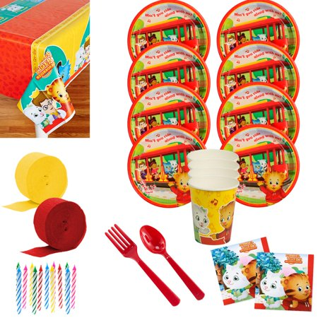 Daniel Tiger's Neighborhood Deluxe Birthday Party Tableware Kit (Serves 8)](Daniel The Tiger Birthday Party)