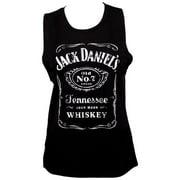 Jack Daniels 49162-S Jack Daniels Women Classic Logo Muscle Tank Top - Small