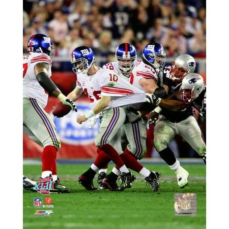 Eli Manning SuperBowl XLII Action Photo Print