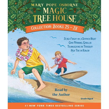 Magic Tree House Collection: Books 25-28 : #25 Stage Fright on a Summer Night; #26 Good Morning, Gorillas; #27 Thanksgiving on Thursday; #28 High Tide in Hawaii - Fright Night Halloween Songs
