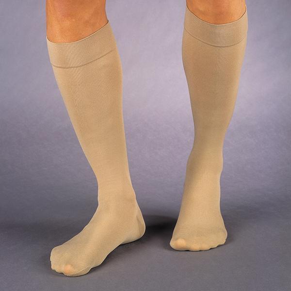 Relief 15-20 mmHg Knee High Large Full Calf Beige