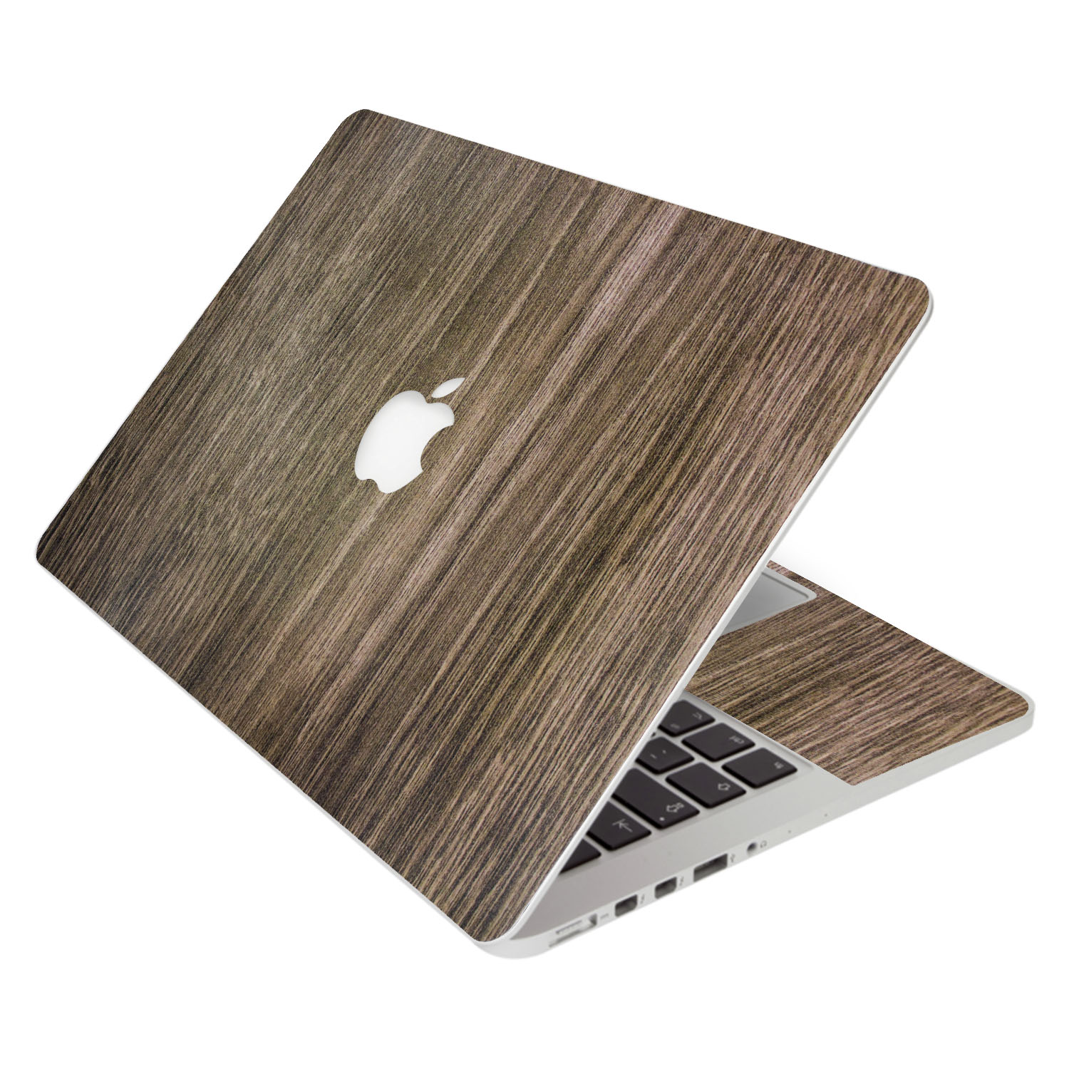 SkylerShield 4-in-1 Semi Transparent Protector 3M Vinyl Skin Decal Laptop Notebook Decals Sticker Keyboard Cover for Apple Macbook Pro A1706 / A1708 / 2016 Model (13-inch) Brown Wood Texture