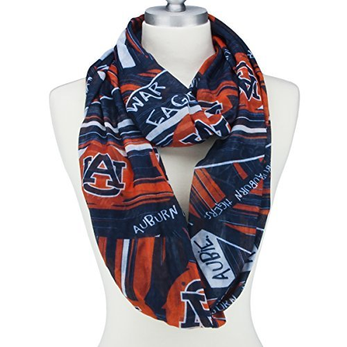 Auburn Tigers Infinity Scarf with Geometric Designs, Logos and Colors