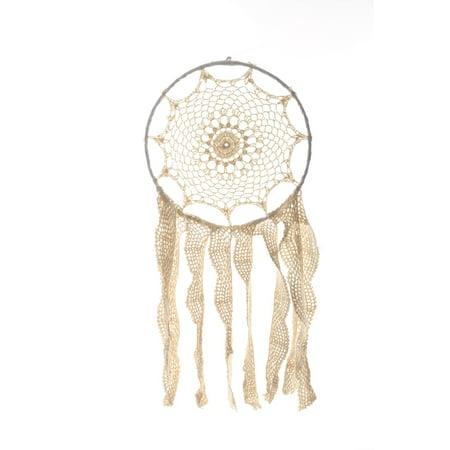 """12"""" Dream Catcher - Ivory Handmade Crochet Hanging Dream Catcher DIY Boho Décor"""