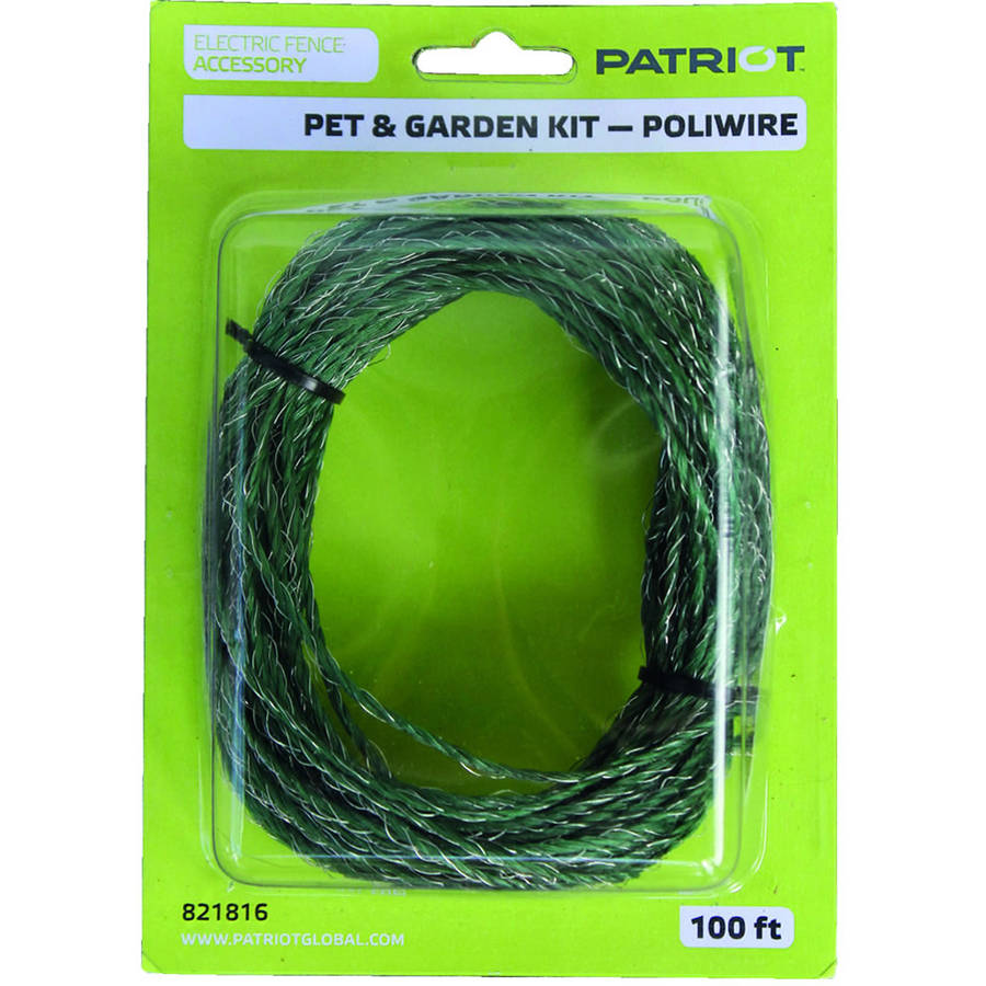 Patriot Pet and Garden Kit, 100' Extra Poliwire