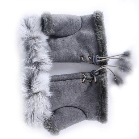 Rabbit Fur Colors (EFINNY Women Faux Rabbit Fur Hand Wrist Warmer Half Finger Gloves Winter Glove 11 Colors)