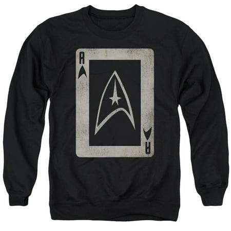 Star Trek Original 1960s TV Series Vintage Style Ace Card Adult Crew Sweatshirt