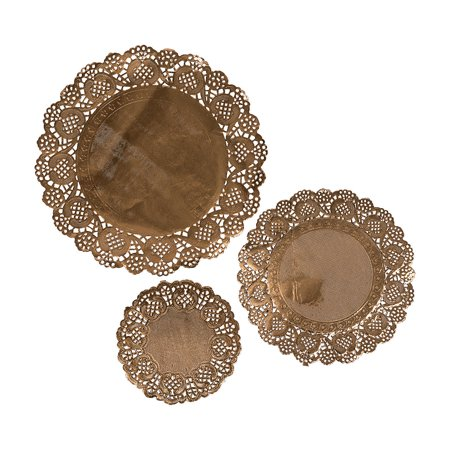 Fun Express - Assorted Sizes Gold Paper Doilies for Wedding - Craft Supplies - Bulk Craft Accessories - Misc Bulk Craft Accessories - Wedding - 36 Pieces](Bulk Paper Doilies)