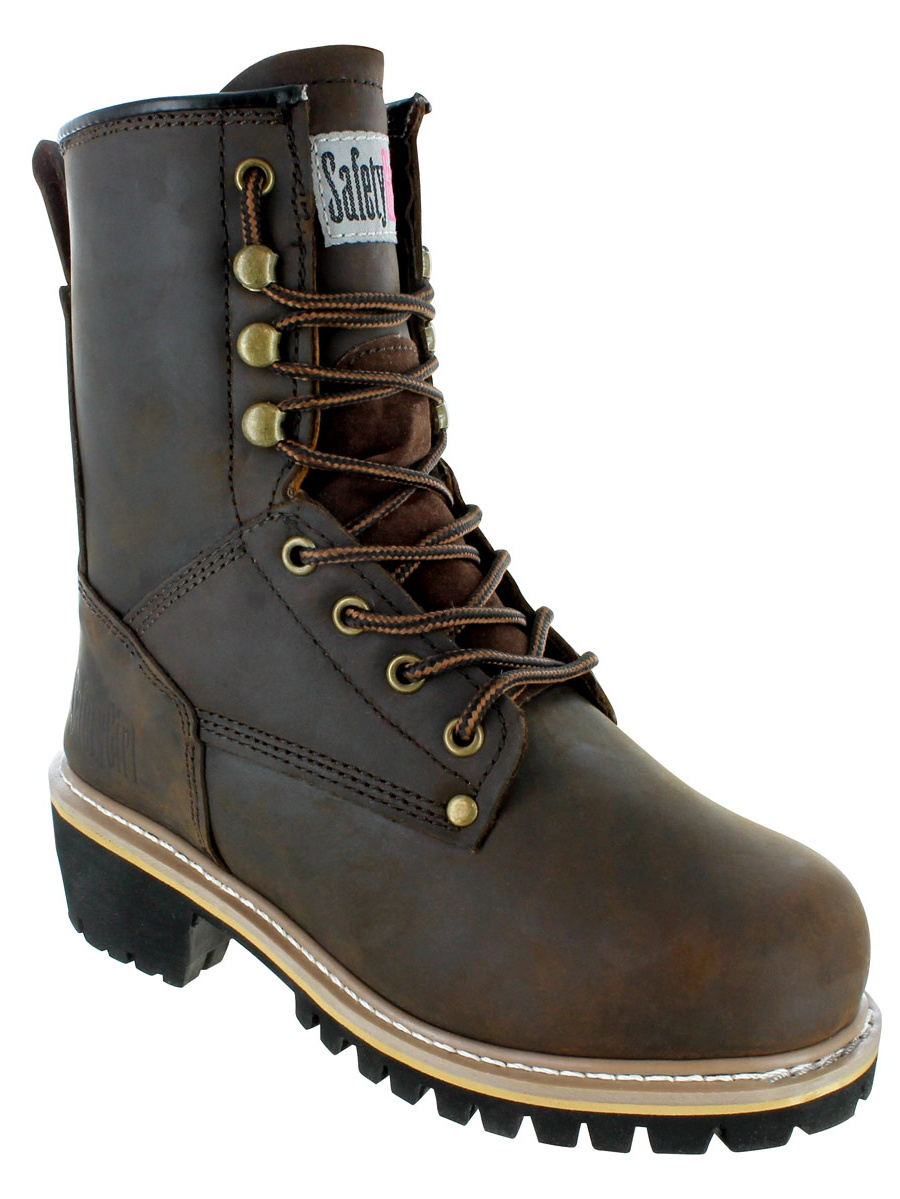 """Safety Girl Women's 8"""" Logger Boot - Steel Toe"""