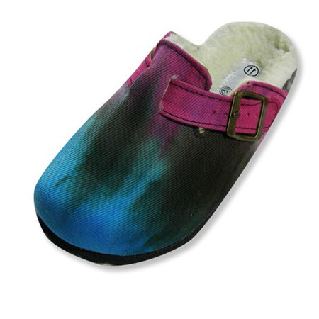 Sole Kool - Girls Tie Dyed Clog, Turquoise MULTICOLOURED / 12 M US Little Kid