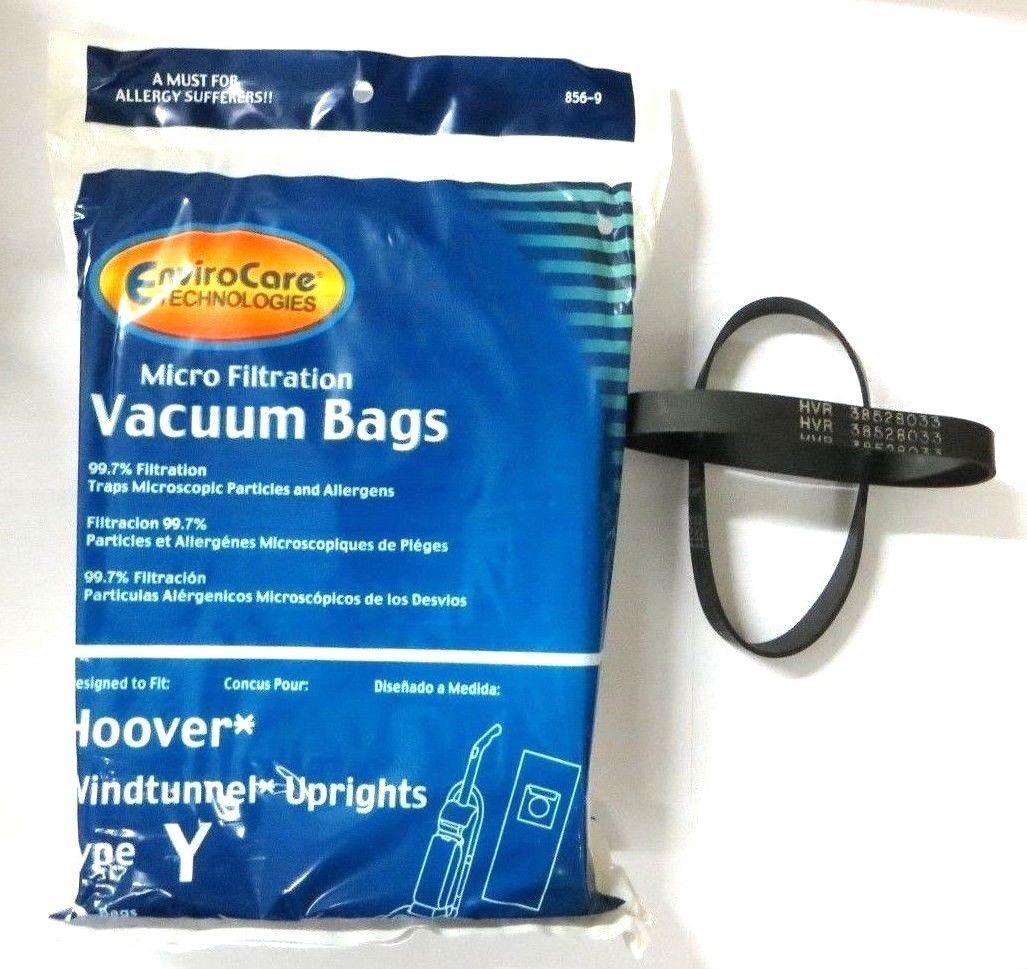 18 Hoover Windtunnel Upright Type Y Micro-filtration Vacuum Bags & 2 Belts