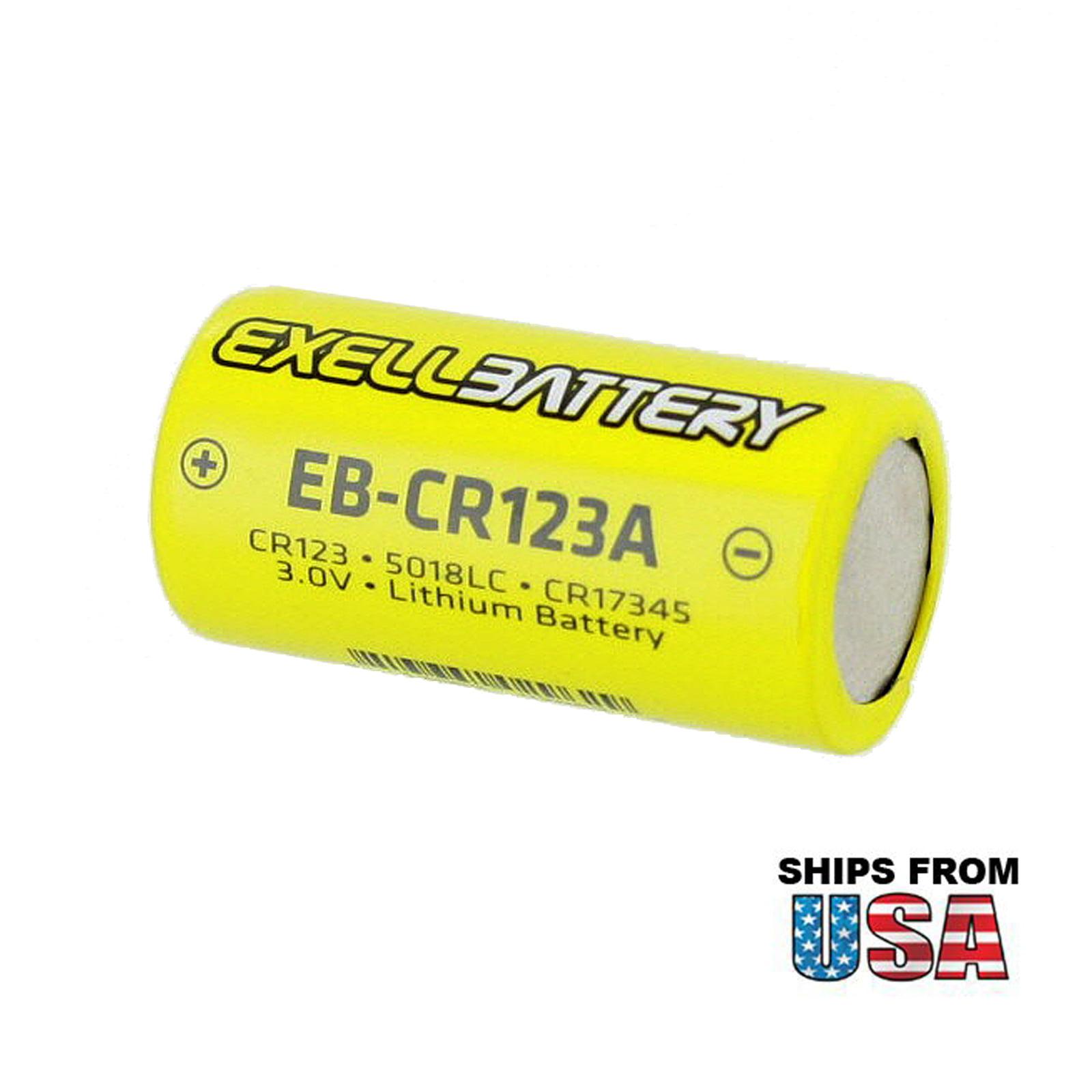 10 x CR123A CR123 CR17345 Camelion Photo 3V Lithium Blister Foto-Batterie