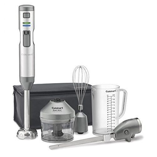 Cuisinart Cordless and Rechargeable Hand Blender with Knife Attachment CSB-300