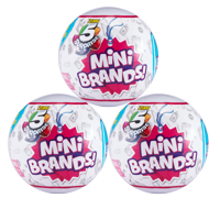 5 Surprise Mini Brands NEW Mystery Capsule Collectible Toy (3 Pack) by ZURU Series 2