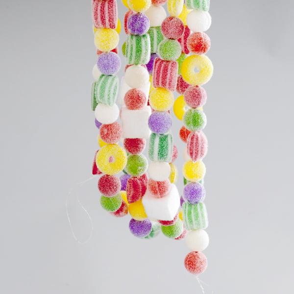 Kurt Adler 9/' Plastic Multi Candy Garland