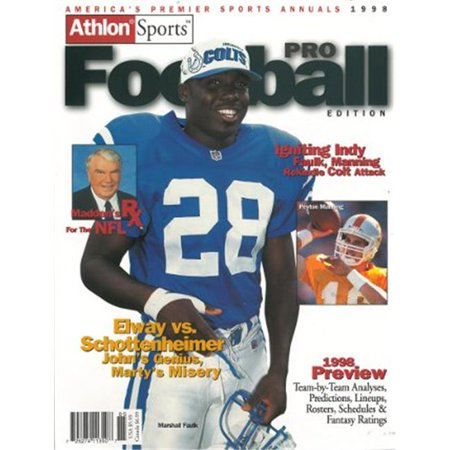 Athlon Ctbl 012302 Marshall Faulk Unsigned Indianapolis Colts Sports 1998 Nfl Pro Football Preview Magazine