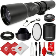 Opteka 500mm/1000mm f/8 Manual Telephoto Lens for Canon EOS 80D, 77D, 70D, 60D, 7D, 6D, 5D, 5Ds, Rebel T7i, T7s, T6i, T6s, T5i, T5, T4i, T3i, T3, T2i, T1i, SL2 and SL1 Digital SLR Cameras