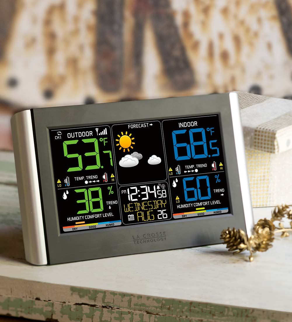 Click here to buy La Crosse Technology Horizontal Color Wireless Weather Station by Problem Solvers.