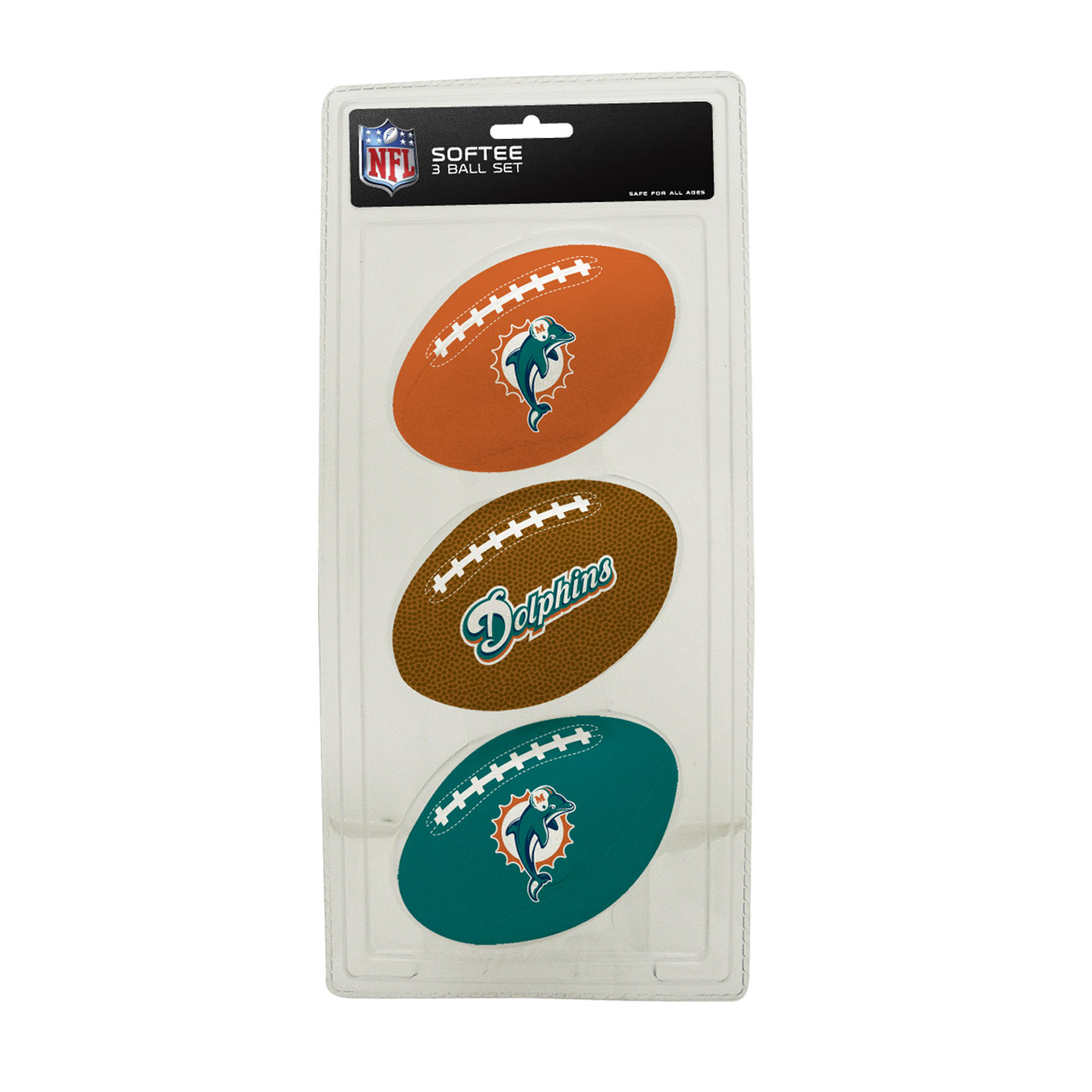 3-Football Softee Set Miami Dolphins