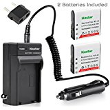 Kastar Battery (X2) & Travel Charger for Casio NP_40 NP40 & Kodak LB_060 AZ521 AZ361 AZ501 AZ522 AZ362 AZ526 camera and HP D3500