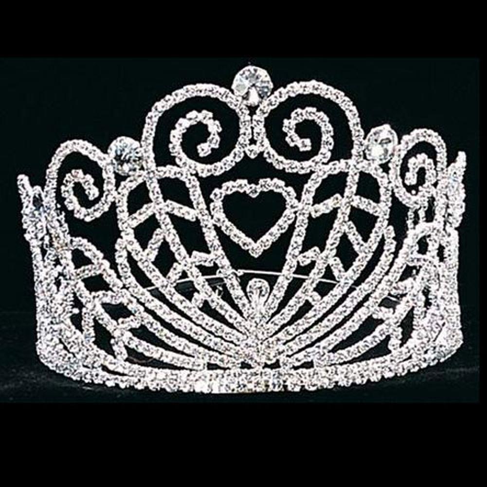 Futuron Girl Silver Heart Swirls Pageant Quinceanera Comm...