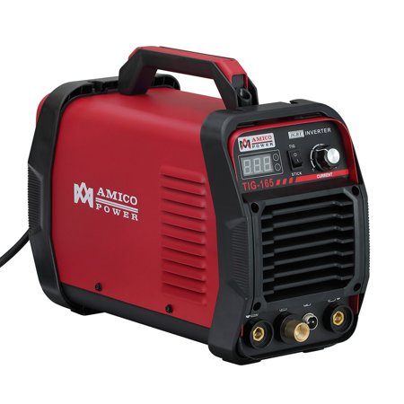 TIG-165, 160 Amp High Frequency Start TIG Torch Stick Welder, 115V & 230V Dual Voltage Welding Soldering