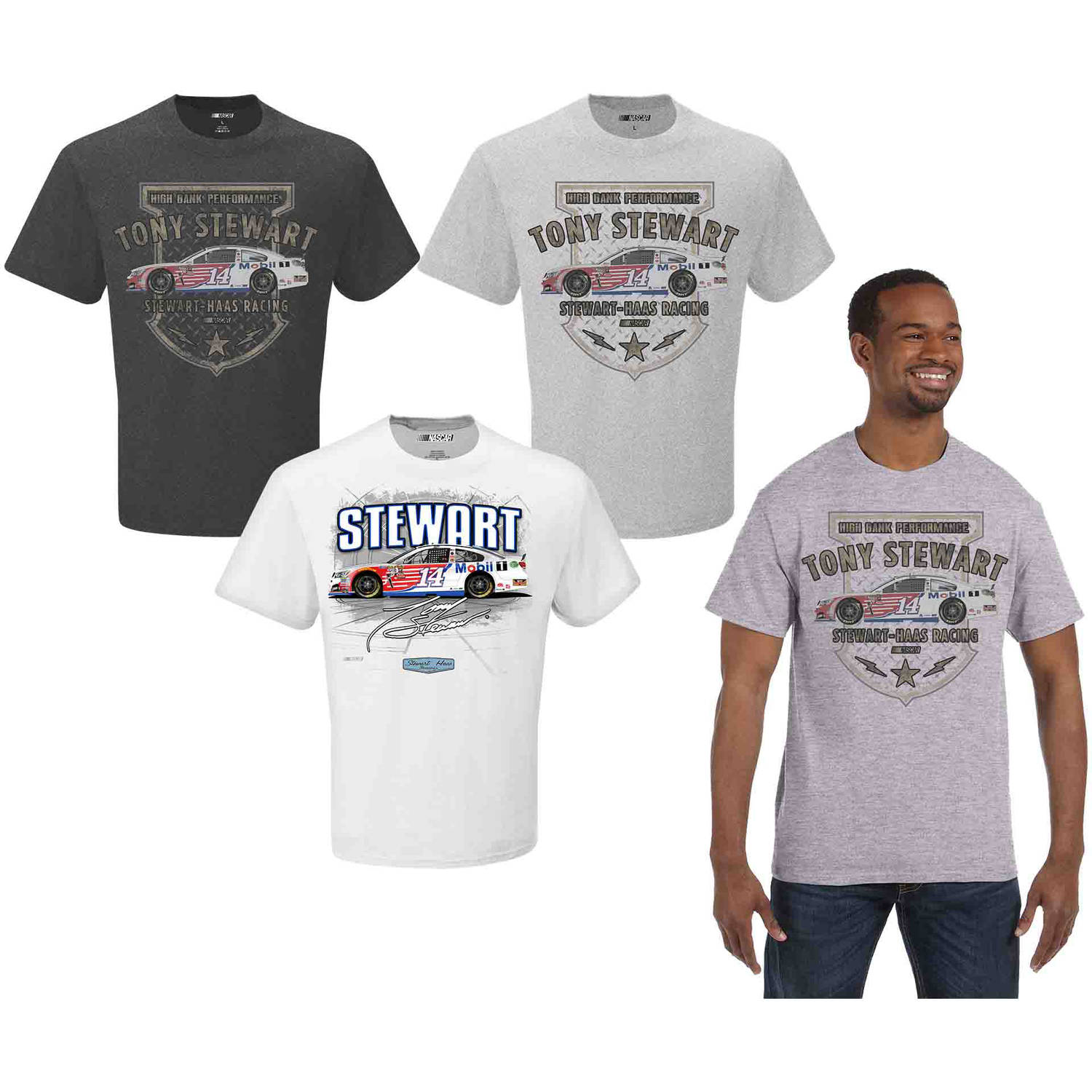 NASCAR Men's Tony Stewart 3 Pack Tee Shirts