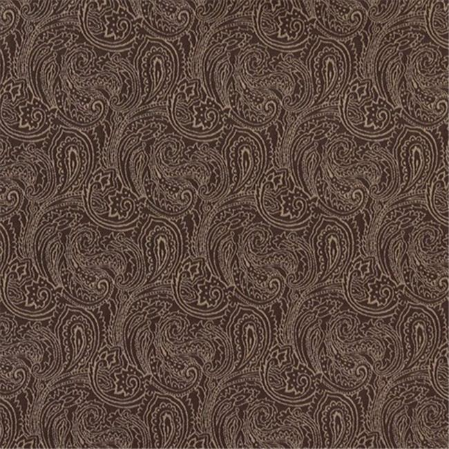 Designer Fabrics B630 54 in. Wide Brown, Traditional Paisley Jacquard Woven Upholstery Fabric