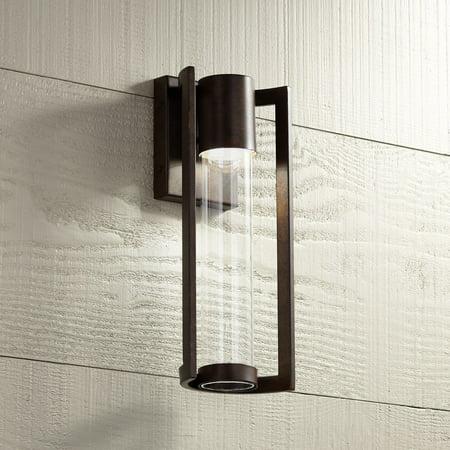 - Possini Euro Design Modern Outdoor Wall Light Fixture LED Bronze 15