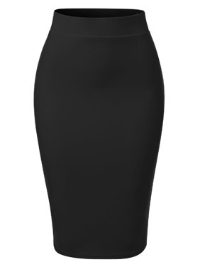 Made by Olivia Women's Casual Classic Bodycon Pencil Skirt Khaki L