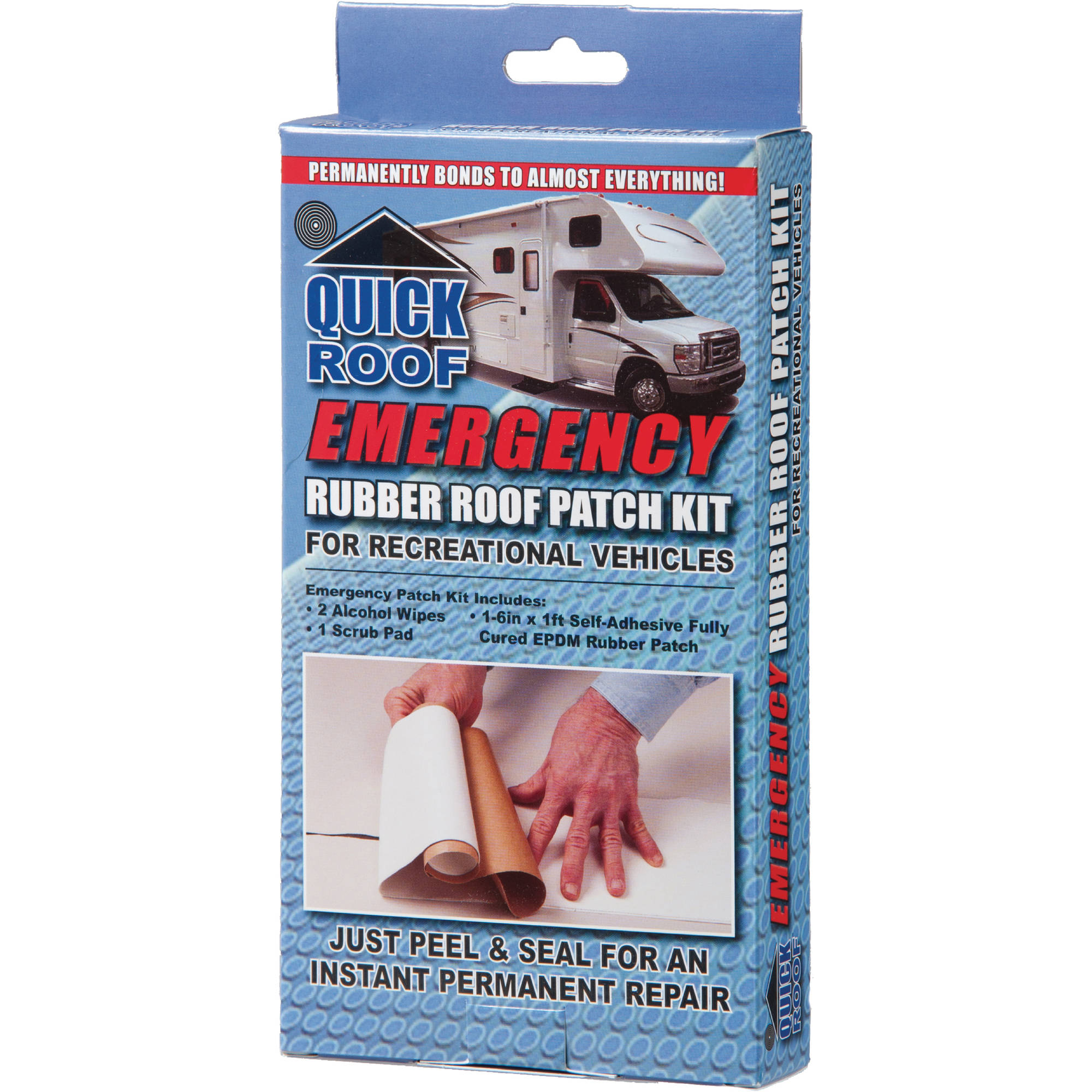 "Quick Roof Emergency Rubber Roof Patch Kit, 6"" x 12"""