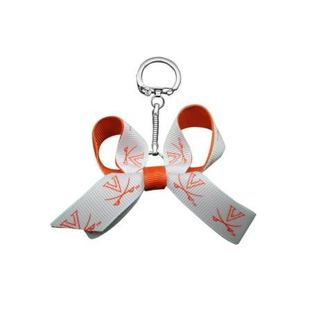 University of Virginia Mini Bow Keychain