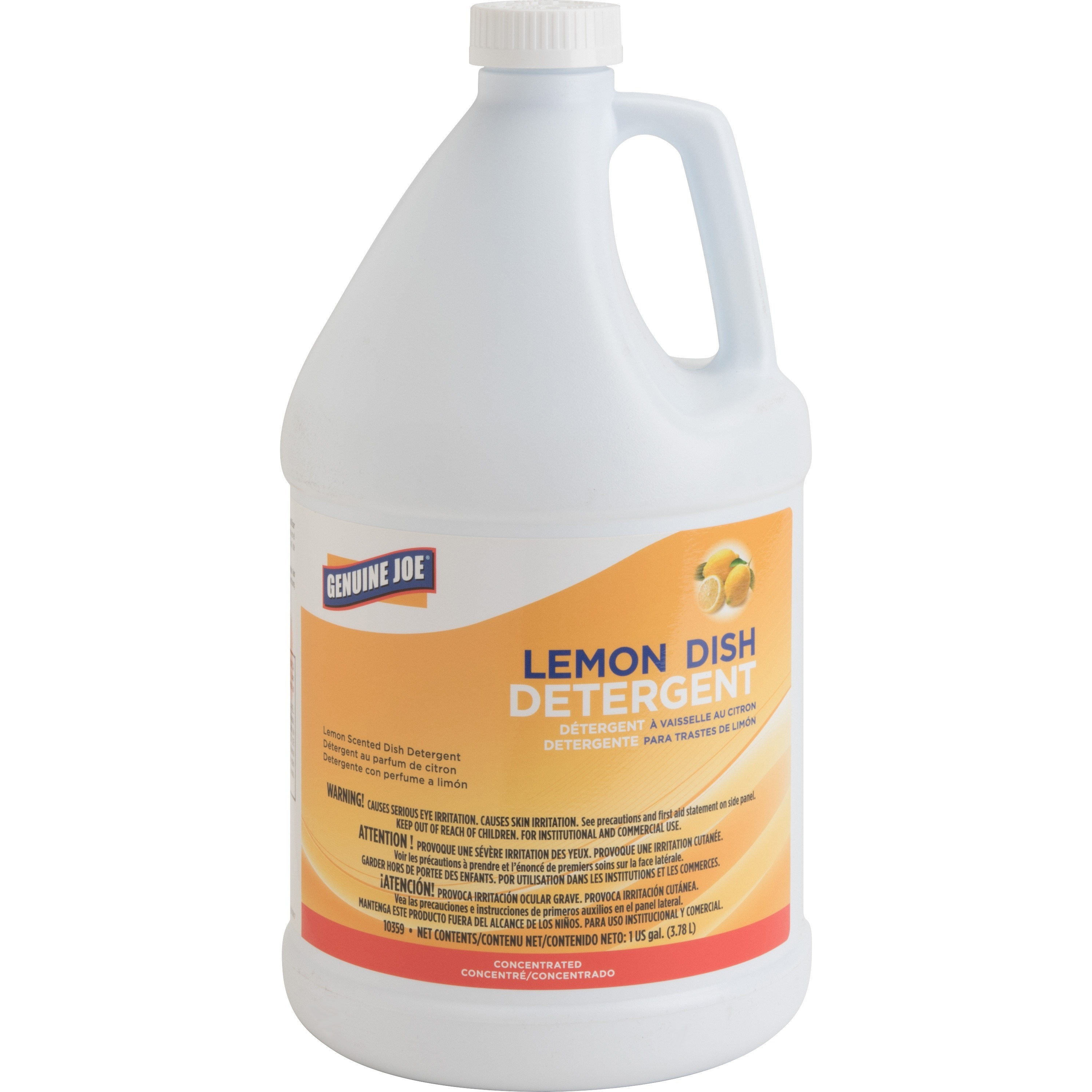 Genuine Joe, GJO10359CT, Lemon Dish Detergent Gallon, 4 / Carton, White