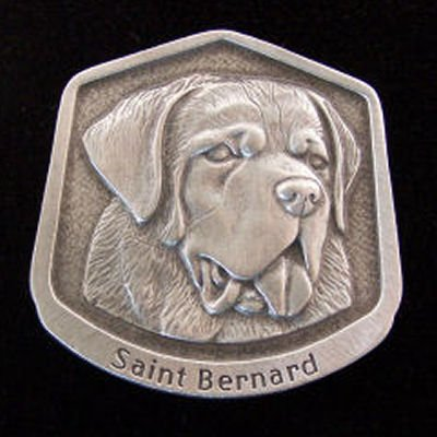 Saint Bernard Fine Pewter Dog Breed Ornament The sculpted image of your pet is surrounded with a wreath of holly and ivy. You will treasure this ornament for years to come. hey are made of Fine Pewter and come in a Christmas gift box for storing. Lindsay Claire is a Canadian manufacturer of Fine Pewter Gifts and Collectibles.  Each pewter item is cast in our shop from fine pewter and meticulously hand polished to a satin finish.Ornament is approximately 3  and has a satin cord attached for hanging.