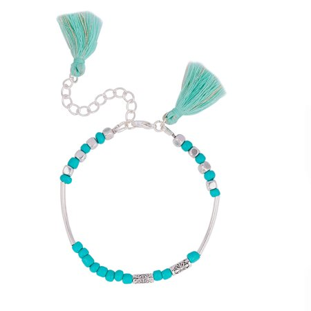 Sexy Sparkles Women And Girls Morse Code    Sister    Bracelet With Tassel
