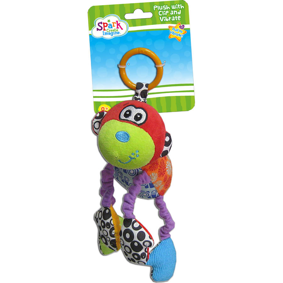 Spark Create Imagine Plush Monkey with Clip and Vibrate