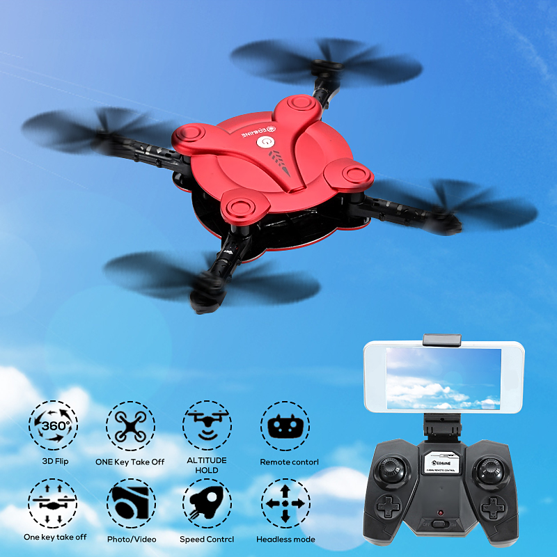 Eachine E55 Mini WiFi FPV RTF/BNF RC Drone With 0.3MP Camera Foldable Arm High Hold Mode Pocket Quadcopter Christmas Birthday Gift Toys