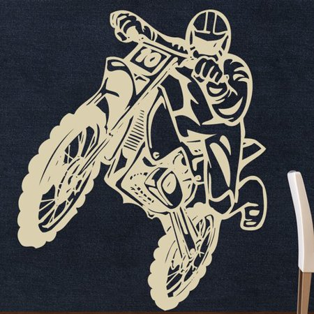 Modern Gold Machine - Style and Apply Motocross Wall Decal
