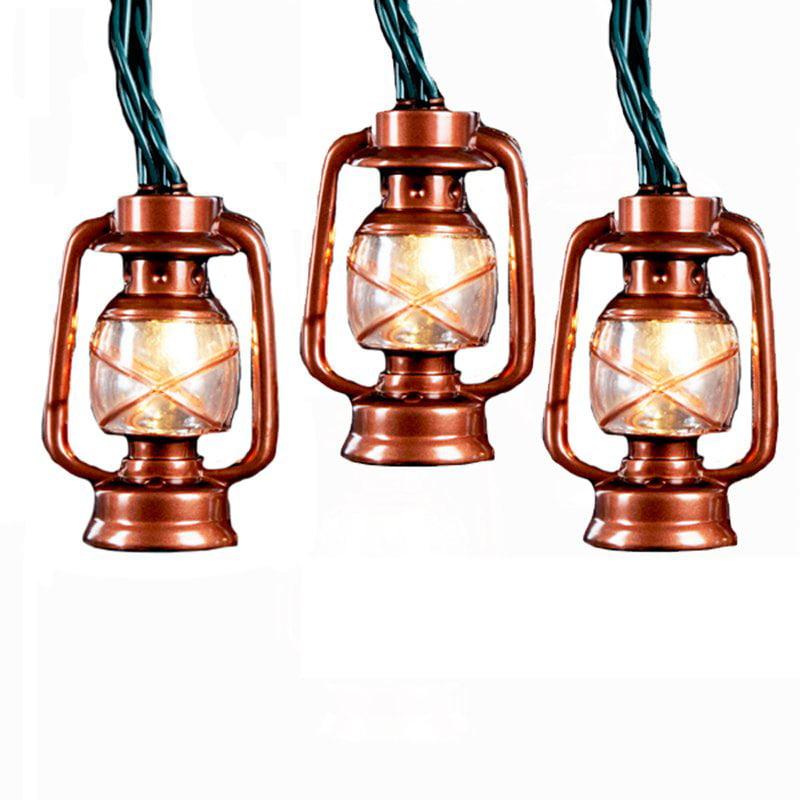 Kurt Adler Brass Lantern 10 ct. Light Set
