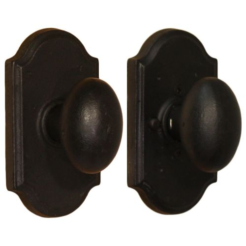 Weslock 7110M Durham Privacy Door Knob with Premiere Rose from the Molten Bronze Collection