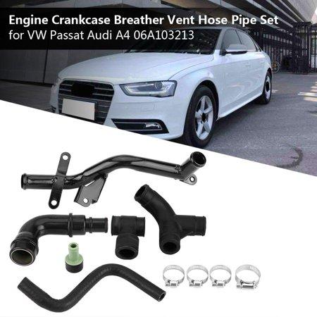 Yosoo Engine Crankcase Breather Vent Hose Pipe Set for VW Passat B5 AUDI A4 A6 06A103213