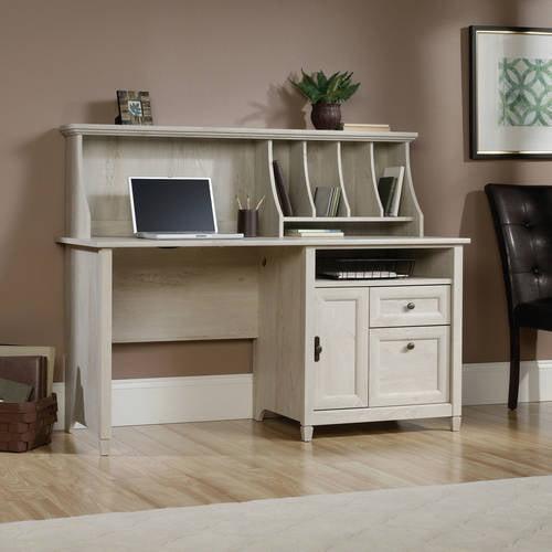 Sauder Edge Water Computer Desk with Hutch, Chalked ...