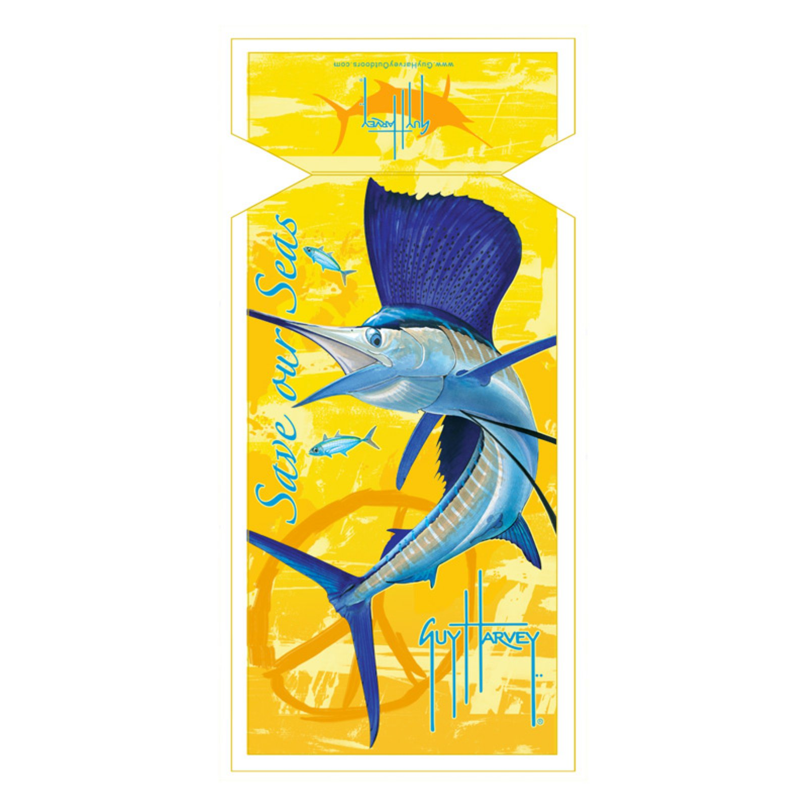 Guy Harvey Sailfish Sea Lounge Chair Beach Towel with Hood