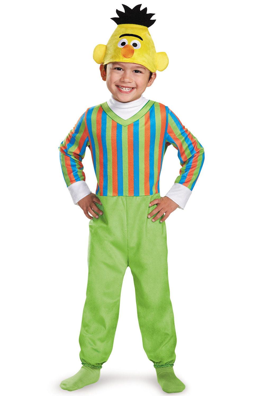 sesame street bert child toddler costume jumpsuit hat boys girls halloween
