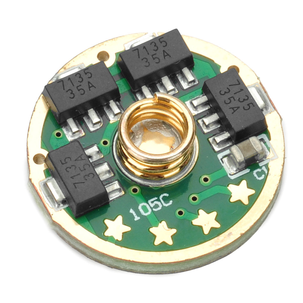 Practical 17mm Led Driver Circuit Board For Flashlight 5 Mode Electronic Toy Pcb