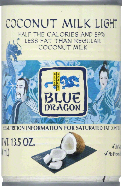 Blue Dragon Coconut Milk, Light by AB World Foods
