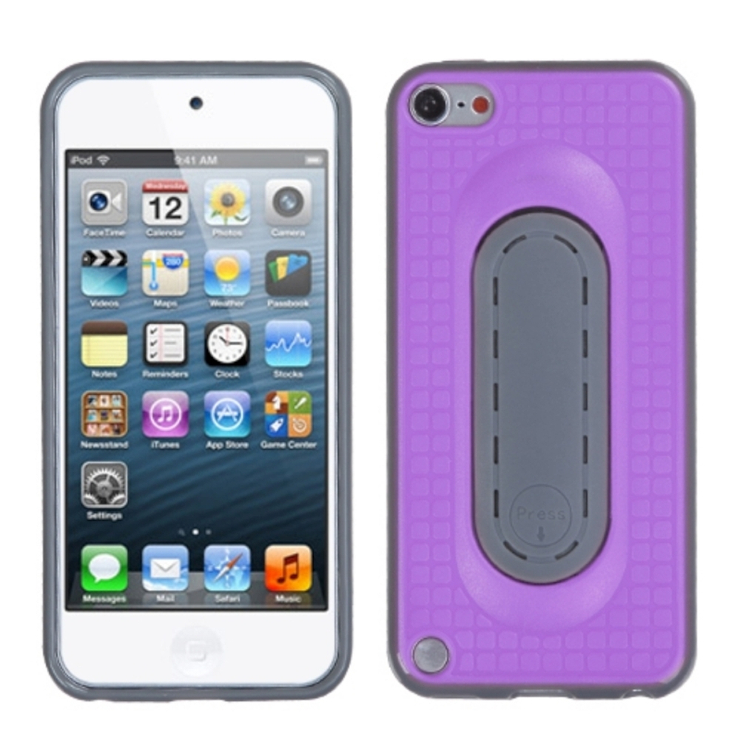Insten Purple Snap Tail Stand Case (with Package) for APPLE: iPod touch (5th 6th Gen 5 6)